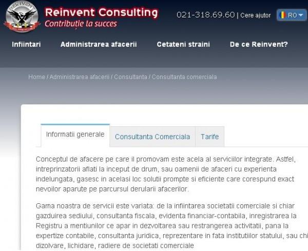 Reinvent Consulting - marca Grupului REINVENT. Consultanta comerciala fiscala, reprezentare la ONRC, consultanta juridica,