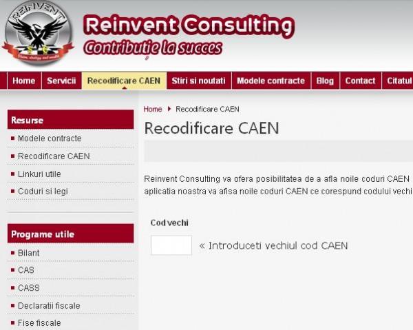 Aplicatie recodificare coduri CAEN