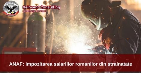 impozitare salarii romani diaspora Reinvent Consulting