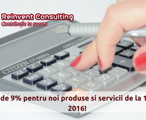 TVA 9% din august 2016, Reinvent Consulting