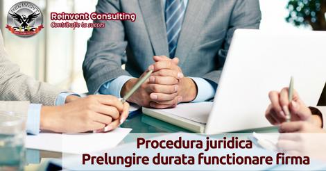 prelungire durata functionare firma Reinvent Consulting