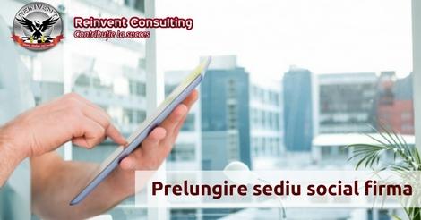 prelungire sediu social Reinvent Consulting