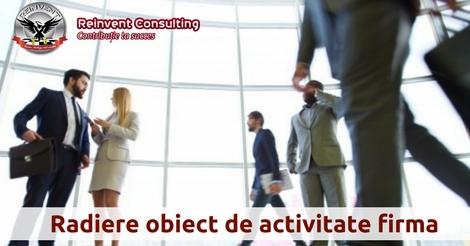 radiere obiect de activitate Reinvent Consulting