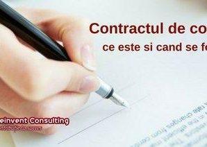 contract de comodat infiintare firma stabilire schimbare sediu social Reinvent Consulting