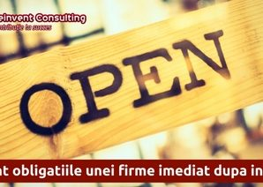 Obligatiile unei firme dupa infiintare, Reinvent Consulting