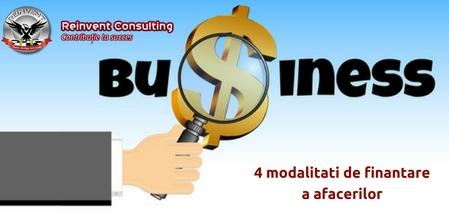 modalitati de finantare a afacerii Reinvent Consulting