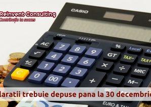 Ce declaratii si situatii contabile trebuie sa fie depuse pana la sfarsitul anului 2016-