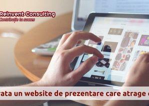 Cum arata un website de prezentare care atrage clienti- Reinvent Consulting.