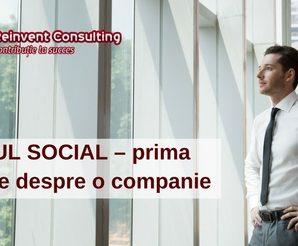 SEDIUL SOCIAL – prima impresie despre o companie , Reinvent Consulting