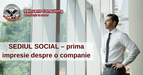Gazduire SEDIU SOCIAL – prima impresie despre o companie , Reinvent Consulting