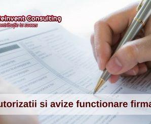 Autorizatii functionare firma autorizare activitate Reinvent Consulting