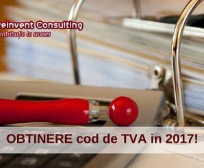 Obtinere cod de TVA in 2017, Reinvent Consulting
