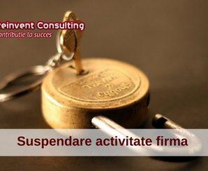 suspendare activitate firma, Reinvent Consulting