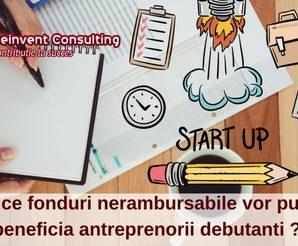 De ce fonduri nerambursabile vor putea beneficia antreprenorii debutanti -