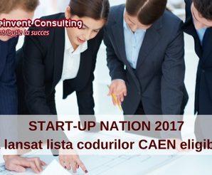 START-UP NATION 2017 – s-a lansat lista codurilor CAEN eligibile pentru finantare (1)