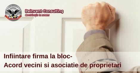 infiintare firma acord vecini si asociatie de proprietari Reinvent Consulting