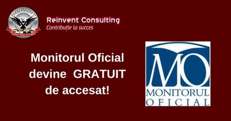 Monitorul Oficial devine GRATUIT de accesat!