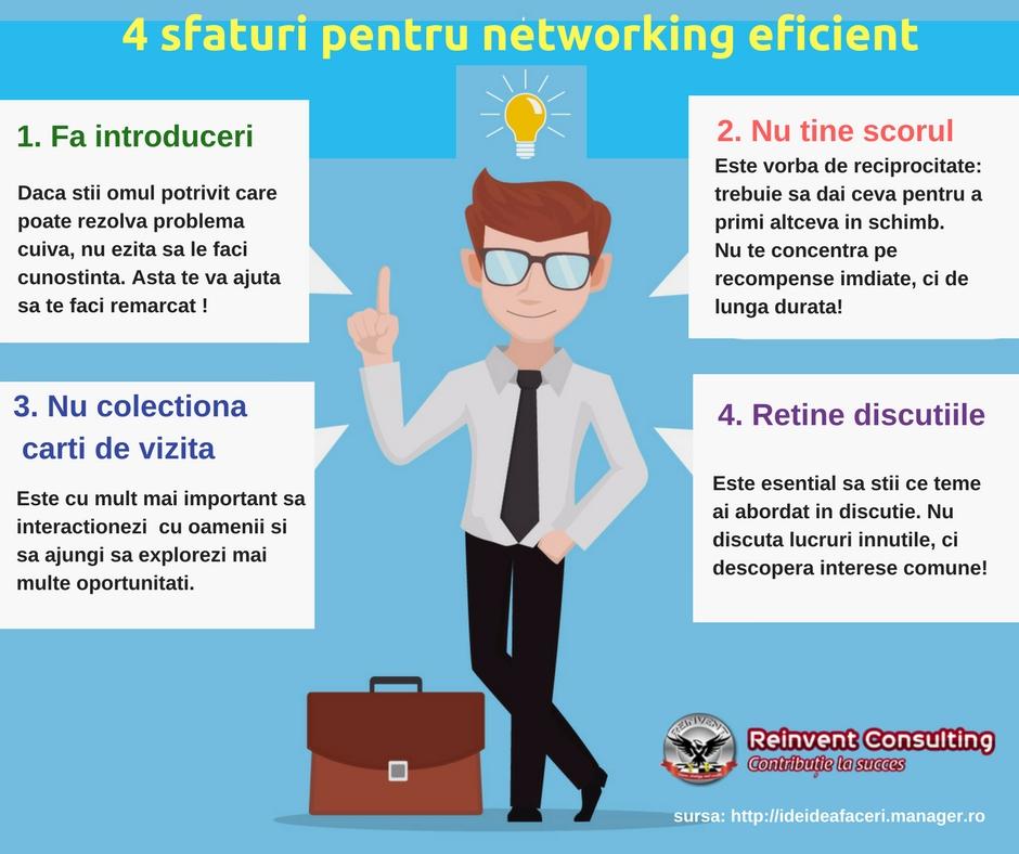 4 sfaturi pentru networking profitabil pe termen lung