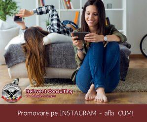 Promovare instagram Reinvent Consulting
