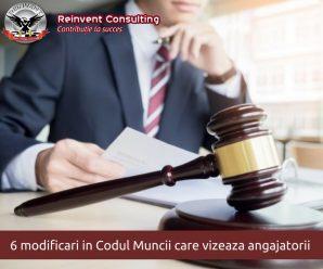 Modificari Codul Muncii Reinvent Consulting
