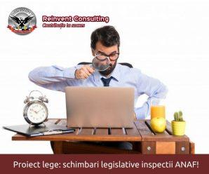 Modificari inspectii fiscale Reinvent Consulting
