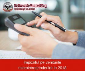 Impozitul pe veniturile microintreprinderilor in 2018 Reinvent Consulting