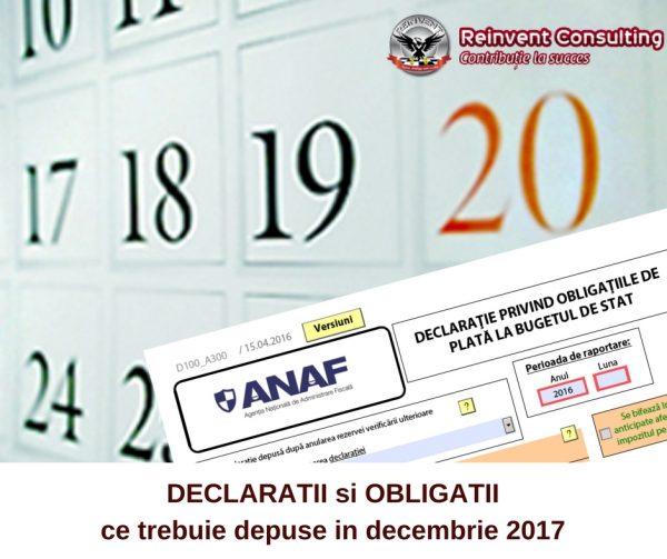 agenda fiscala decembrie 2017, Reinvent Consulting