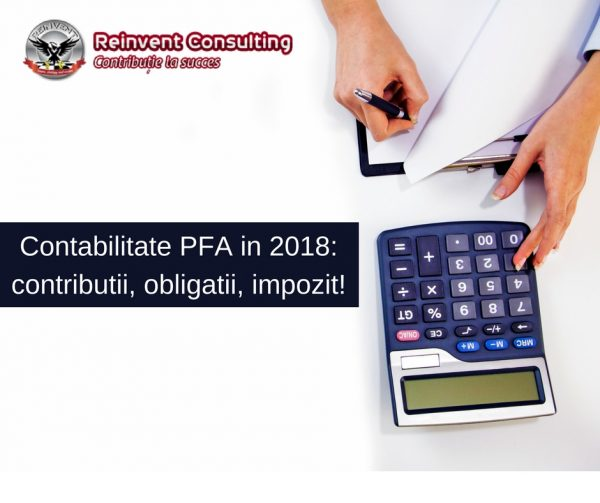contabilitate PFA in 2018, contributii, obligatii, impozit