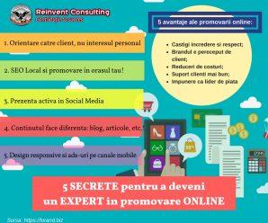 5 Secrete pentru a deveni un expert in promovare online