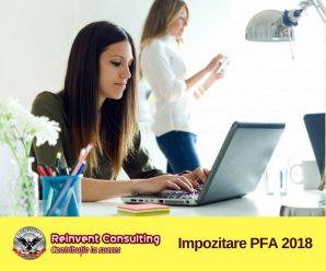 Impozitare PFA 2018 Reinvent Consulting