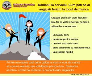 Romanii la serviciu. Cum poti sa ai angajati fericiti la locul de munca Reinvent Consulting