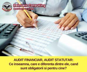 AUDIT FINANCIAR, AUDIT STATUTAR_ ce inseamna, care e diferenta dintre ele, cand sunt obligatorii si pentru cine_ Reinvent Consulting