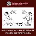 PERCEPTIA REALITATII_ FELUL IN CARE VEDEM PROBLEMA ESTE INSASI PROBLEMA_ Reinvent Consulting
