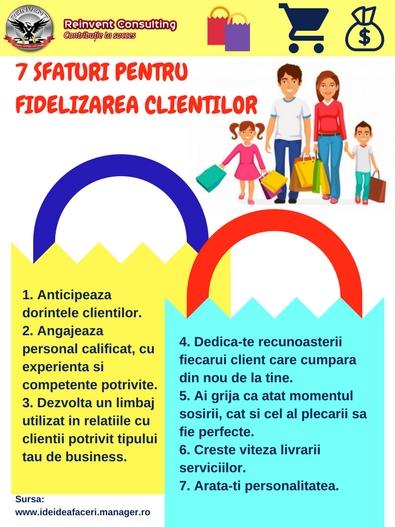 7 SFATURI PENTRU FIDELIZAREA CLIENTILOR Reinvent Consulting