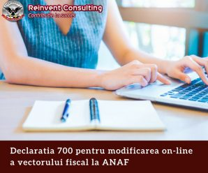 Declaratia 700 pentru modificarea on-line a vectorului fiscal la ANAF Reinvent Consulting