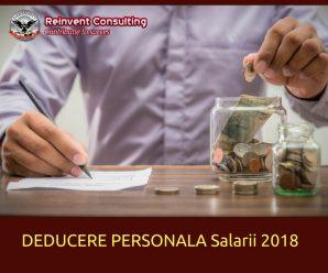 DEDUCERE PERSONALA salarii 2018 Reinvent Consulting