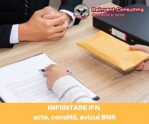 INFIINTARE IFN acte necesare, conditii, avizul BNR