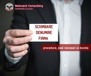 schimbare denumire firma, Reinvent Consulting
