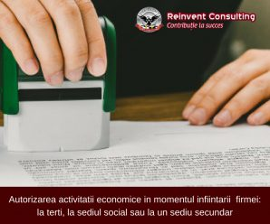 Autorizarea activitatii economice_ la terti, la sediul social sau la un sediu secundar Reinvent Consulting