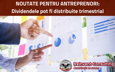 dividendele pot fi distribuite trimestrial, Reinvent Consulting