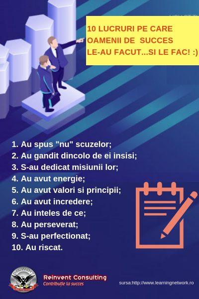 INFOGRAFIC 10 lucruri pe care oamenii de succes le-au facut (si le fac) Reinvent Consulting