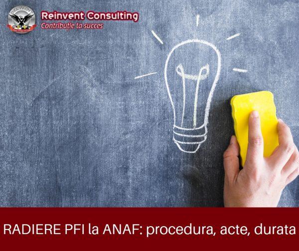 RADIERE PFI la ANAF_ procedura, acte, durata