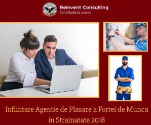 Infiintare Agentie de Plasare a Fortei de Munca in strainatate 2018